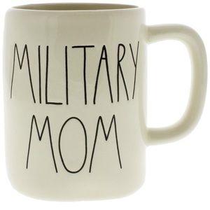 Rae Dunn MILITARY MOM coffee mug NEW USA